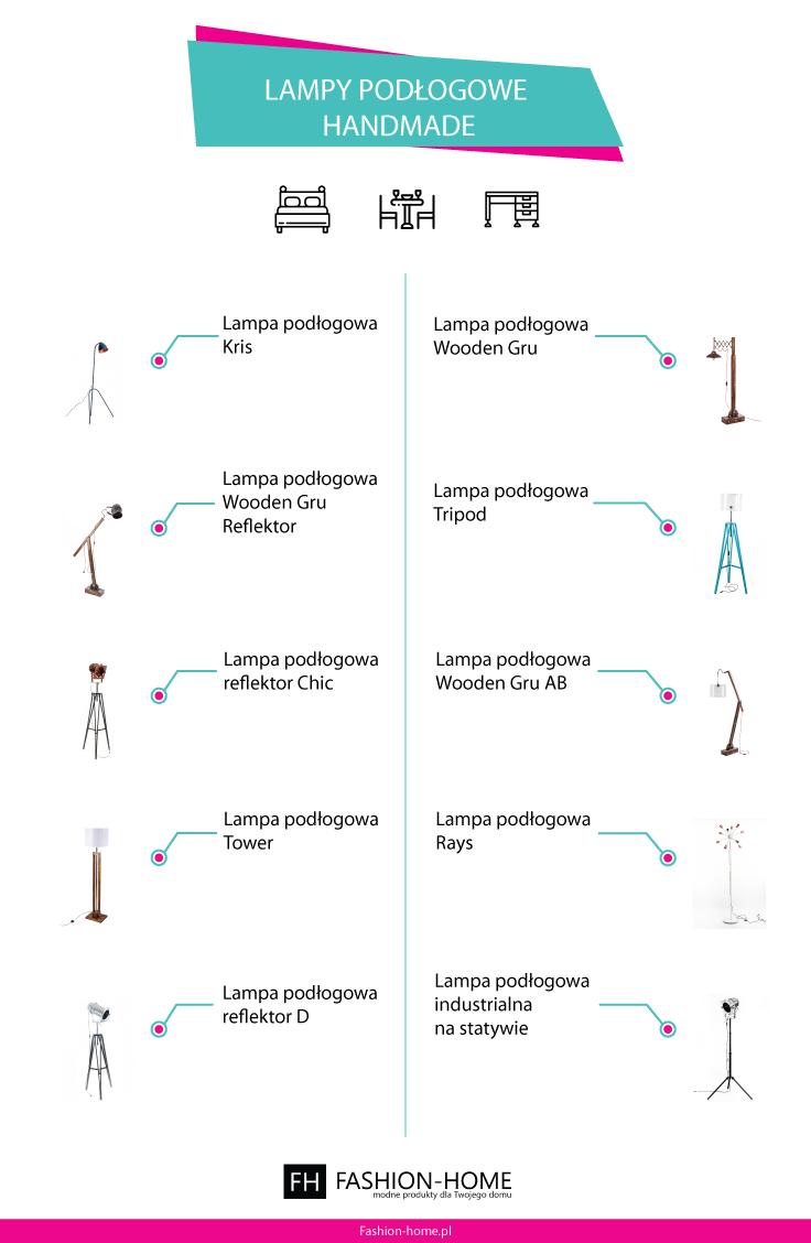 Lampy podłogwe handmade - Infografika - Fashion-home